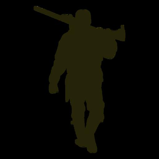 Hunter shotgun front facing walking