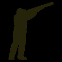 Hunter escopeta derecha mirando hacia el cielo