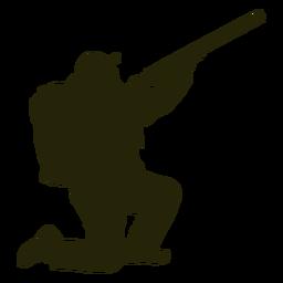 Hunter escopeta hacia la derecha apuntando sky hunter