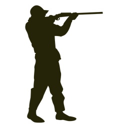 Hunter shotgun right facing aiming standing