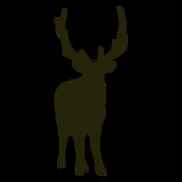 Caza ciervos de frente de pie