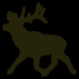 Cazando ciervos a la izquierda corriendo