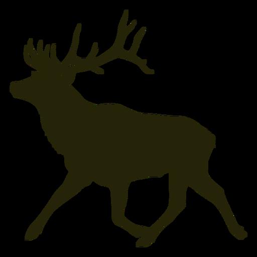 Hunting deer left facing running
