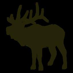 Ciervos de caza hacia la izquierda de pie