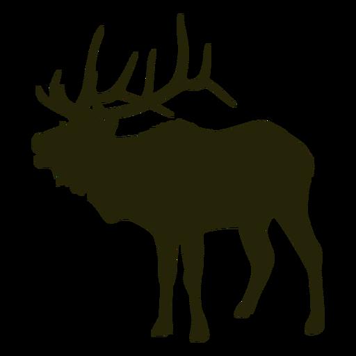 Caçando cervos voltados para a esquerda