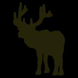 Ciervos de caza hacia la izquierda ciervos de pie