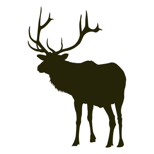 Hunting deer left facing standing deer