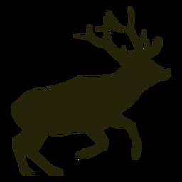 Caza ciervos saltando hacia la derecha