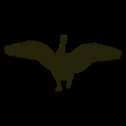 Caza alas delanteras de ganso extendido