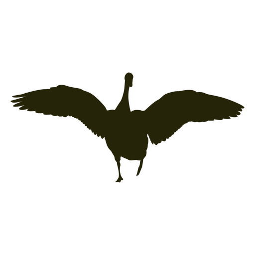Hunting goose front wings spread Transparent PNG