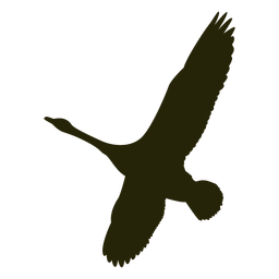 Caza de ganso a la izquierda con alas extendidas