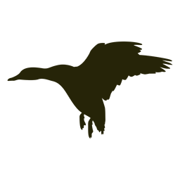 Goose silhouette wings spread landing