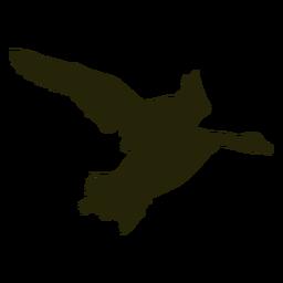Ganso de caça virado para a direita asas batendo