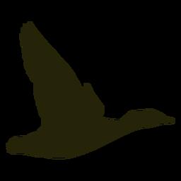 Hunting goose right facing wings upwards