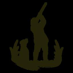 Cazador de caza con el objetivo