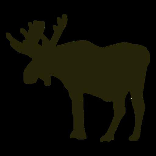 Hunting moose left facing standing