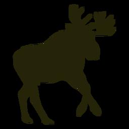 Hunting moose right facing running