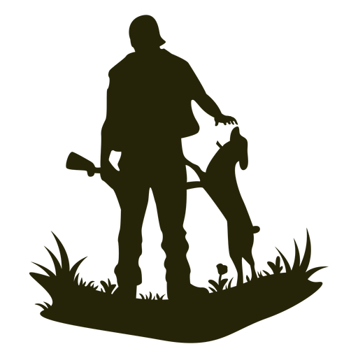 Perro acariciando la caza