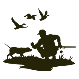 Perro de caza olfateo