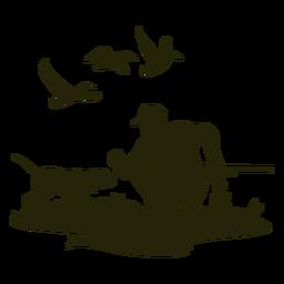 Perro olfateador de caza