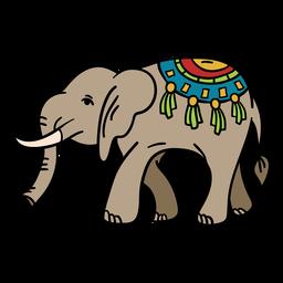 India decorated elephant illustration
