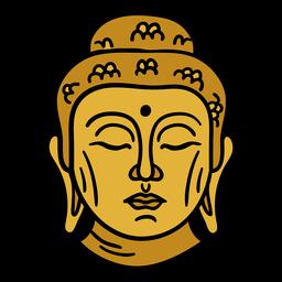 India señor buda idol ilustración