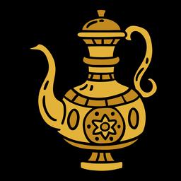 Ilustración de jarra de metal de India