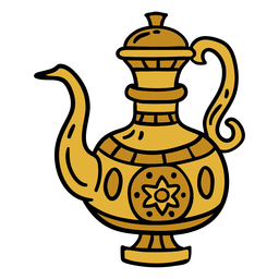 India metal pitcher illustration