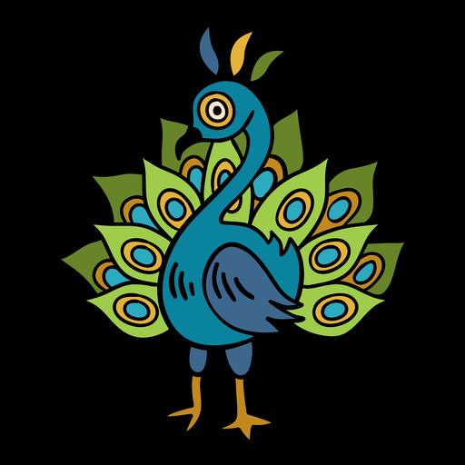 India peacock illustration