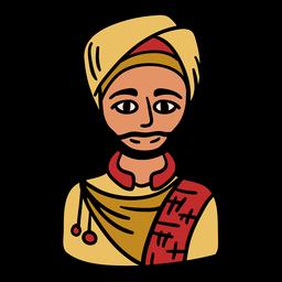 India sikh man illustration