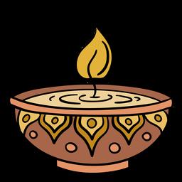India small lamp illustration