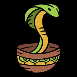 India snake charmer illustration