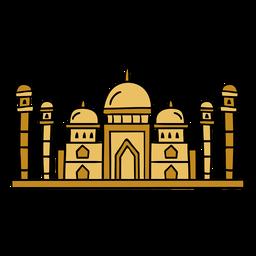 India tajmahal illustration