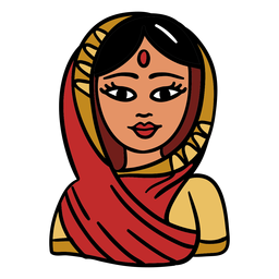 India woman illustration