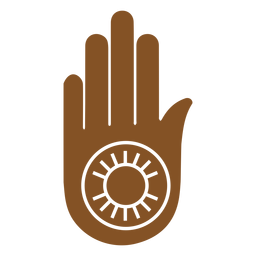 Indian symbols hand