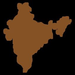 Símbolos indianos mapa da Índia