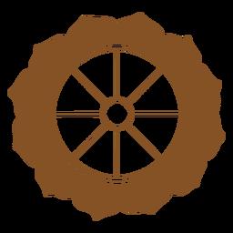 Lótus de símbolos indianos
