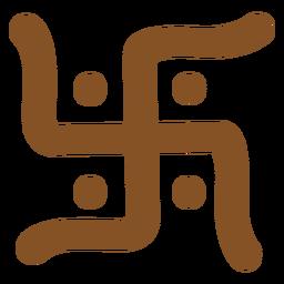 Esvástica de símbolos indios