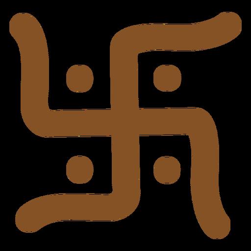 Símbolos indianos suástica