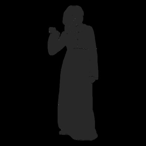 Islamic women front facing hand raised