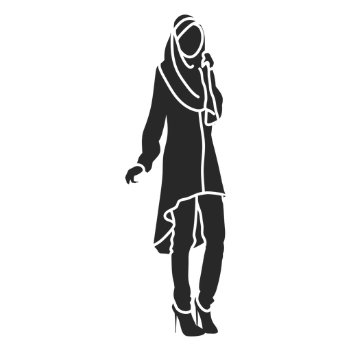 Islamic women front facing high heels