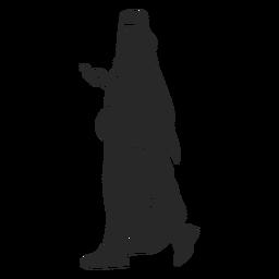 Islamische Frauen gehen Silhouette