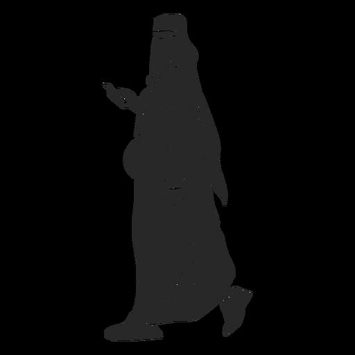 Mulheres islâmicas caminhando em silhueta Transparent PNG