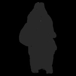 Bolso de mujer con velo islámico para caminar