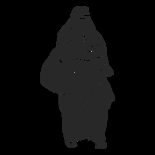 Islamic women veil walking handbag