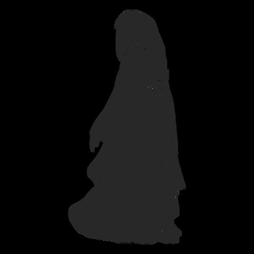 Islamic women veil walking left facing
