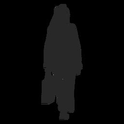 Bolso de mujer islámica alejándose
