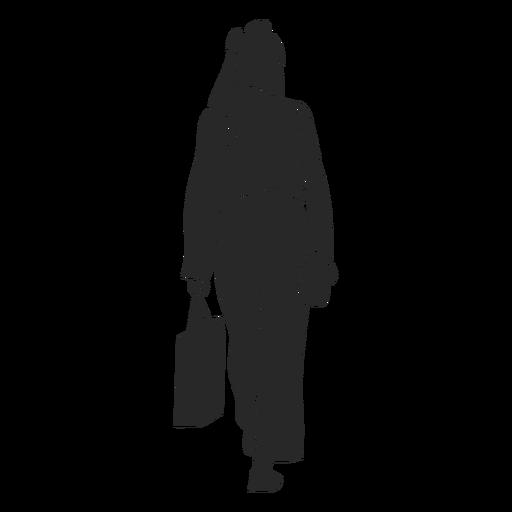 Islamic women walking away handbag