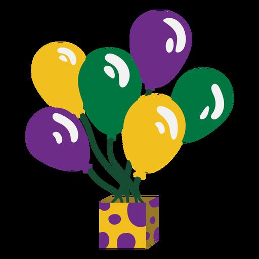 Mardigras balloons flat