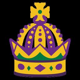 Coroa de Mardigras plana